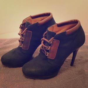 Utereque 4-inch heeled ankle lace-up booties